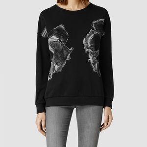 ⭐️SOLD All Saints Alek Noir flower sweatshirt M